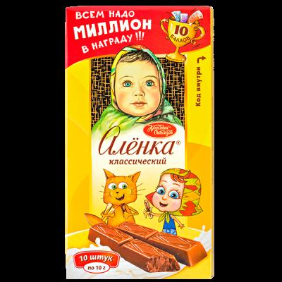 шоколад Аленка Порционный классический 100 г 1 уп.х 17 шт.