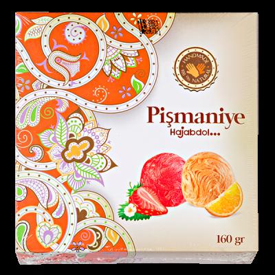 конфеты HAJABDOLLAH Pismaniye со вкусами клубники и апельсина 160 г 1 уп.х 12 шт.