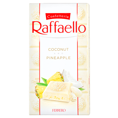 шоколад RAFFAELLO Coconut&Pineapple 90 г 1уп.х 8 шт.