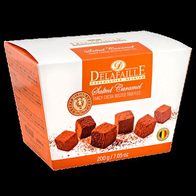 конфеты DELAFAILLE Truffles Salted Caramel 200 г 1 уп.х 16 шт.