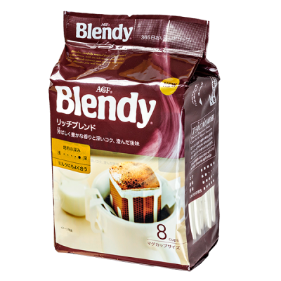 кофе AGF Blendy Рич молотый фильтр-пакет 1 уп * 8 шт.