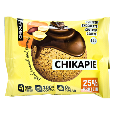 Печенье Chikapie глазированное Salted caramel&Peanuts 60 г 1 уп.х 9 шт.