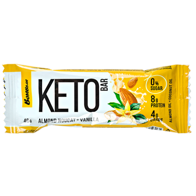 Батончик Bombbar KETO Almond Nougat+Vanilla 40 г 1 уп.х 12 шт.