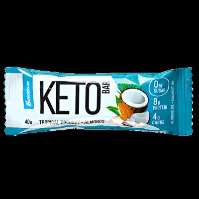 Батончик Bombbar KETO Tropical Coconut+Almonds 40 г 1 уп.х 12 шт.