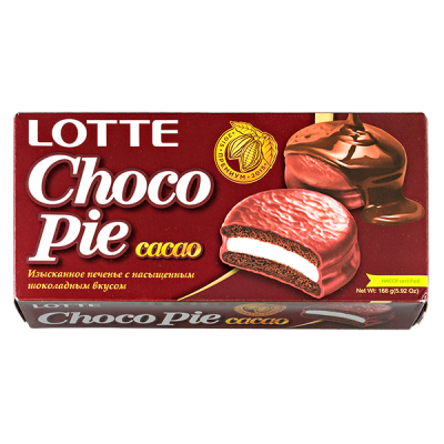 печенье ЧОКОПАЙ ЛОТТЕ какао 168 г 1 уп. х 16 шт.