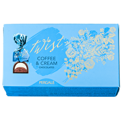 конфеты PERGALE TWIST coffee&cream 164 г 1 уп. х 9 шт.