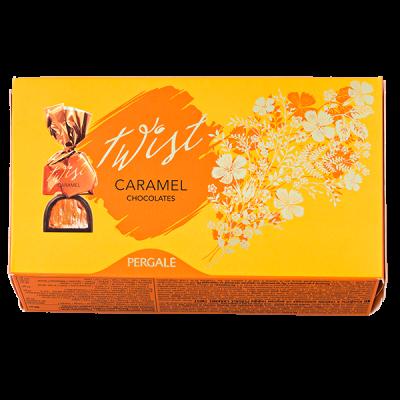 конфеты PERGALE TWIST caramel 155 г 1 уп. х 9 шт.