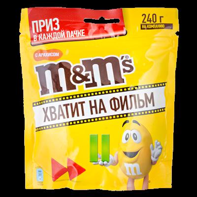 драже М&М's с арахисом 240 г 1 уп.х 18 шт.