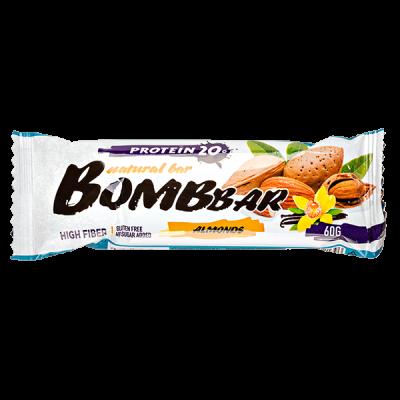 Батончик Bombbar протеиновый ALMONDS 60 г 1 уп.х 20 шт.