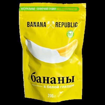 BANANA REPUBLIC Банан Сушеный в Белой Глазури 200 г 1 уп.х 10 шт.