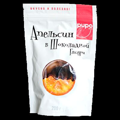 PUPO Апельсин в Шоколадной Глазури 200 г 1 уп.х 10 шт.