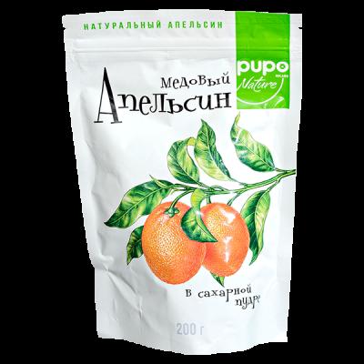 PUPO Апельсин Медовый в Сахарной Пудре 200 г 1 уп.х 10 шт.