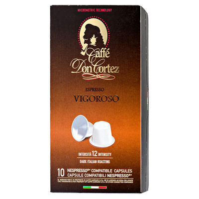 кофе капсулы CAFFE DON CORTEZ VIGOROSO 1 уп х  10 капсул