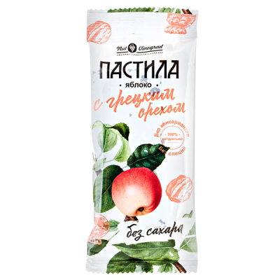 Пастила Nut Vinograd яблоко с грецким орехом 50 г