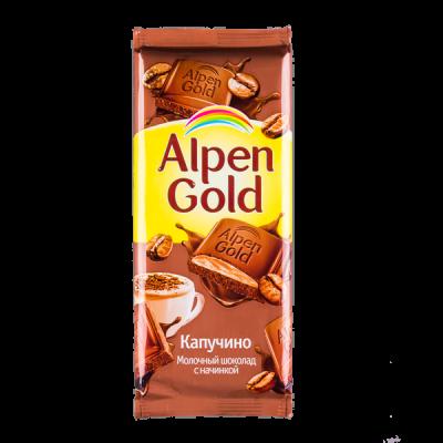 шоколад Альпен Гольд Капучино 85 г 1 уп.х 21 шт.