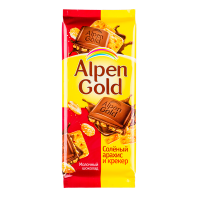 шоколад Альпен Гольд Соленый Арахис Крекер 85 г 1 уп.х 21 шт.
