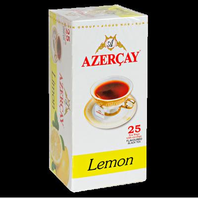 чай АЗЕРЧАЙ Черный с лимоном 25 пакетиков с конвертом 1 уп.х 24 шт.