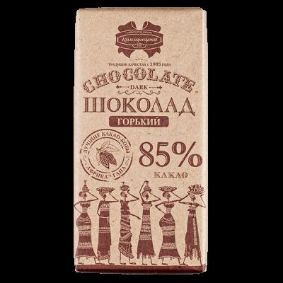 шоколад Коммунарка Горький 85% Крафт 90 г 1уп.х 20шт.