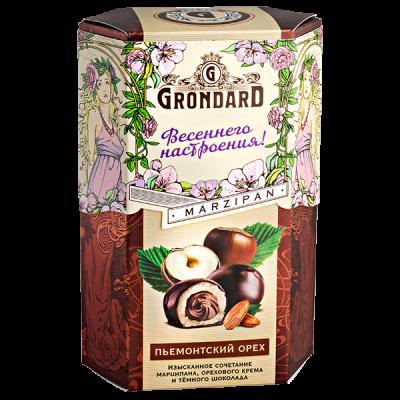 конфеты GRONDARD МАРЦИПАН с ореховой начинкой в шок. глазури 140 г 1 уп. х 10 шт.
