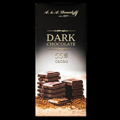 шоколад A&A Demidoff DARK 55% 100 г 1 уп.х 12 шт.