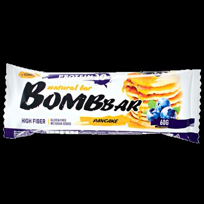 Батончик Bombbar протеиновый PANCAKE Blue Berry-Black Currant 60 г 1 уп.х 20 шт.