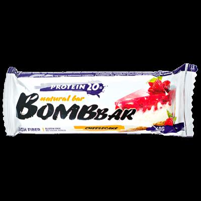Батончик Bombbar протеиновый RASPBERRY CHEESECAKE 60 г 1 уп.х 20 шт.