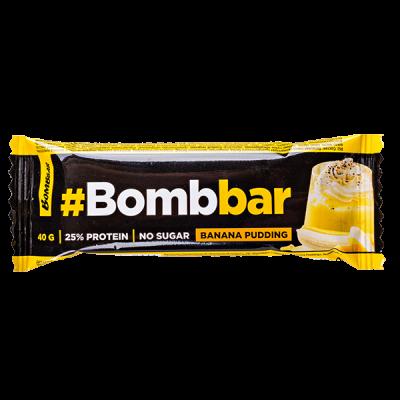 Батончик Bombbar глазированный Banana Pudding 40 г 1 уп.х 30 шт.