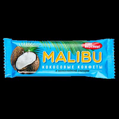 Батончик MALIBU кокосовый в шоколадной глазури 50 г 1уп.*20шт.