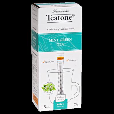 чай TEATONE 'MINT GREEN' 15 стиков 1 уп.х 12 шт.