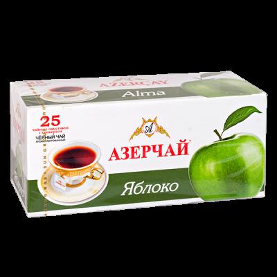 чай АЗЕРЧАЙ Яблоко 25 пакетиков с конвертом 1 уп.х 24 шт.