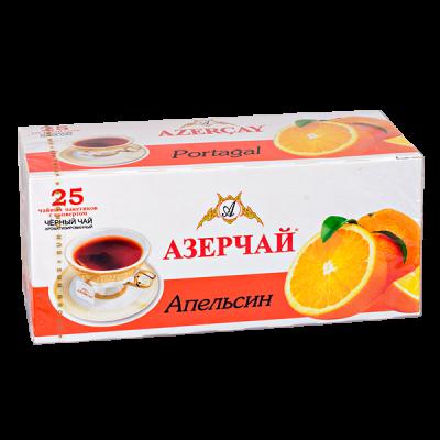 чай АЗЕРЧАЙ Апельсин 25 пакетиков с конвертом 1 уп.х 24 шт.