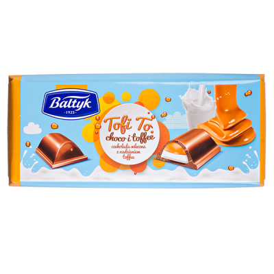 шоколад BALTYK Tofi To 148 г 1уп.х 12шт.