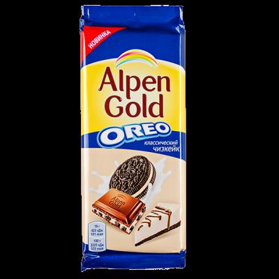 шоколад Альпен Гольд Орео классический чизкейк 95 г 1уп.х 19 шт.