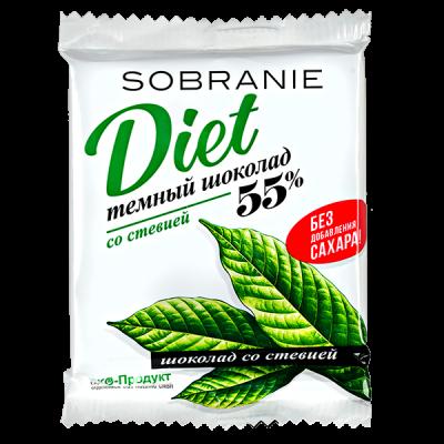 шоколад SOBRANIE DIET со стевией 45 г 1уп.х 15 шт.