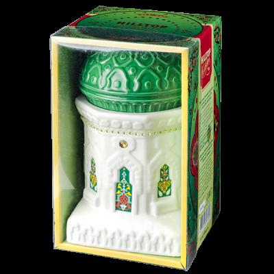 чай HILLTOP чайница 'Восточное созвездие' зеленая керамика 100 г 1уп. х 6 шт.