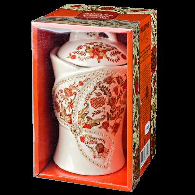 чай HILLTOP чайница 'Цветочный орнамент' КОРОЛЕВСКОЕ ЗОЛОТО, керамика 100 г 1уп. х 6 шт.
