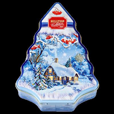 чай HILLTOP 'Елка СНЕЖНАЯ' подарочный футляр в форме елки ж/б 100 г