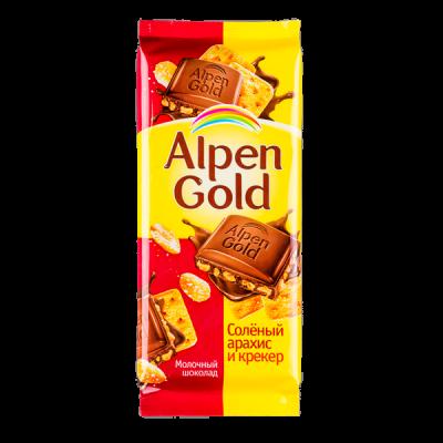 шоколад Альпен Гольд Соленый Арахис Крекер 90 г 1 уп.х 20 шт.