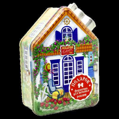 чай HILLTOP морской домик с рецептом 'Эрл грей' ж/б 100 г 1 уп.х 14 шт.
