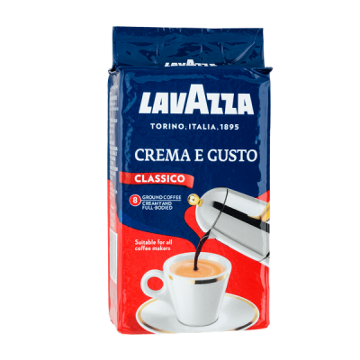 кофе LAVAZZA CREMA E GUSTO 250 г молотый 1 уп.х 20 шт. или 1 уп.х 6 шт.