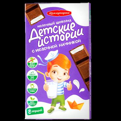 шоколад Коммунарка Детские Истории с молочной начинкой 200 г 1 уп. х 17 шт.