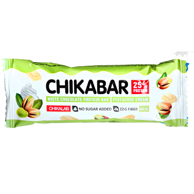 Батончик CHIKALAB глазированный CHIKABAR Pistachio Cream 60 г 1 уп.х 20 шт.