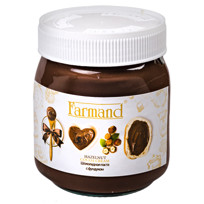 шоколадная паста FARMAND с фундуком 330 г 1 уп.х 12 шт.