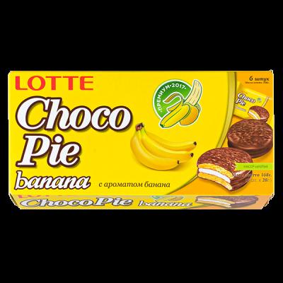 печенье ЧОКОПАЙ ЛОТТЕ банан 168 г 1 уп. х 16 шт.