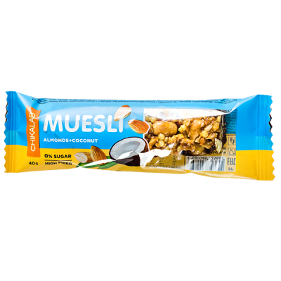 Батончик CHIKALAB MUESLI Almonds+Coconut 40 г 1 уп.х 12 шт.