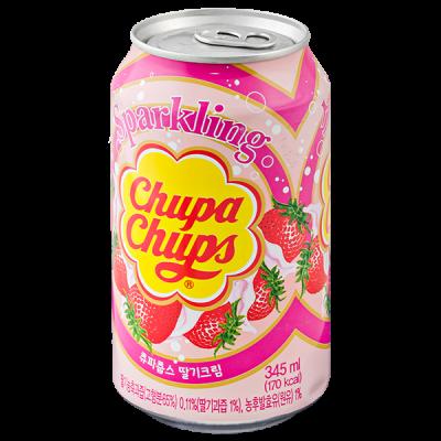 напиток Chupa Chups Strawberry cream 345 мл ж/б 1 уп.х 24 шт.