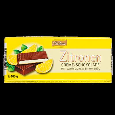 шоколад BOHME Zitronen темный с лимонной c начинкой 100 г 1уп.х 20шт