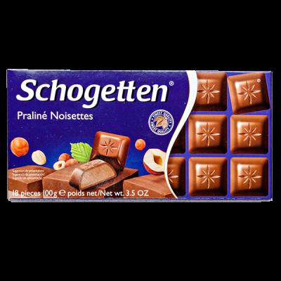 шоколад SCHOGETTEN Praline Noisettes 100 г 1уп. х 15шт.