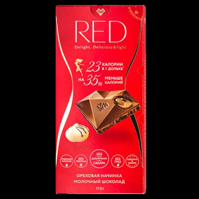 шоколад RED молочный с ореховой начинкой 110 г 1 уп. х 20 шт.