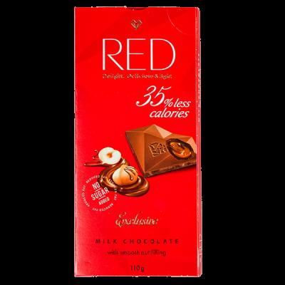 шоколад RED Delight MILK NUT 100 г 1 уп. х 20 шт.